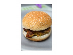 Mini-hamburguesa vegetal: brócoli y pimiento del piquillo